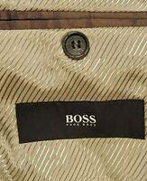 Hugo Boss The James3 Sharp5 Taupe Gray Virgin Wool Blazer Sport Coat Jacket 42 R