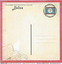 Sc - Belize Postcard Scrapbooking Paper - 1 sheet - Vintage 36424