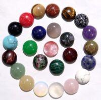 14*14MM Natural Mixing agate Round cabochon Flatback Semi-Precious Gemstone