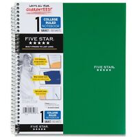 Five Star Spiral Notebook, 1-Subject, 100 College-Ruled Sheets, 11 x 8.5 Inch...