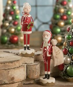 Bethany Lowe Christmas Set Of 2 Santa And Mrs. Claus ML9284 New