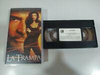 LA TRAMPA SEAN CONNERY CATHERINE ZETA-JONES - VHS Cinta Español - 2T