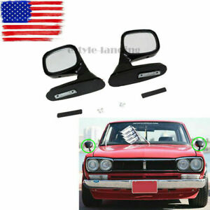 2x Universal Car Auto SUV Pickup Side Rear View Mirror Left Right Side Black