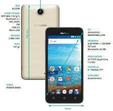 Teléfonos móviles libres de color principal oro 1 GB con memoria interna de 8 GB
