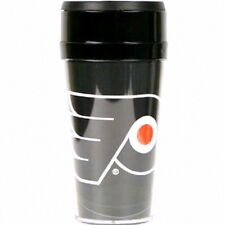 PHILADELPHIA FLYERS TRAVEL TUMBLER MUG HOT/COLD CUP COFFEE MUG NHL 16OZ WITH LID