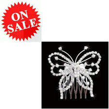 Hair Comb Clip For Women New Butterfly Crystal Rhinestone Wedding Bridal Jewelry