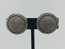 John Hardy Sterling Silver Woven Large Round Clip Earrings