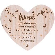 Friend Sentiment- Floral Heart plaque with verse 272074