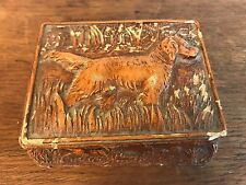 Small Decorative Resin Container with Hunting Dogs Scene (HD10)