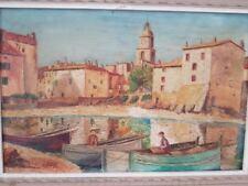 """Henry Martin 1931 """" St tropez""""  peinture sur toile. Henry Martin 1931 """"St Tropez"""