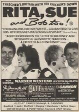 26/9/87PN28 ADVERT: A RAUNCHY BRITISH FILM RITA,SUE &BOB TO0! 7X5
