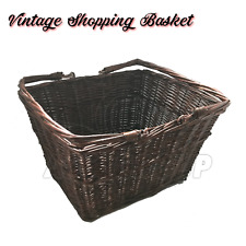 Vintage Retro Style Twisted Wicker Weave Basket Brown Box Storage Tradtional