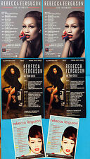 REBECCA FERGUSON TOUR FLYERS X 6  - 2016, 2014, & 2011 - HEAVEN - FREEDOM