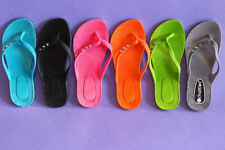 Medium (B, M) Slip On Solid Sandals & Flip Flops for Women