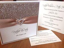 *All That Sparkles* buckle pocket fold wedding day evening invitation SAMPLE