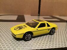 Hot wheels pontiac 1984  fiero yellow 1/64 loose