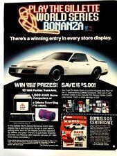 1984 Pontiac Firebird Trans Am Vintage Print Ad Gillette World Series Bonanza