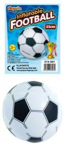 INFLATABLE FOOTBALL Blow up Swimming Beach Ball Summer Party Bag Filler 35cm Toy
