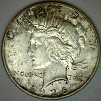 1926 S Silver Peace One Dollar AU $1 Coin Almost Uncirculated X11