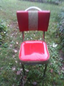 "Retro Diner  Kitchen chair  3"" Padded Red Vinyl Seat"