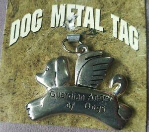 "Guardian Angel of Dogs 1.5"" x 1"" Keychain Dog Tag"