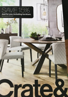 Crate and Barrel 15% off entire purchase 1coupon - sent fast - expires 10-31-19