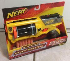 Nerf N-Strike Maverick Rev-6 Blaster Pistol Dart Gun Toys Play Quick Firing