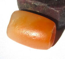 RARE LARGE MAGNIFICENT ANCIENT CARNELIAN AGATE MALI CYLINDER BEAD 14MM X 19MM