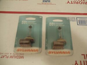 Lot of (2) Fog Light Bulb Front Sylvania 881