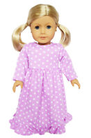 """Doll Clothes 18"""" Nightgown Lavender White Stars Fits American Girl Dolls"""