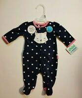Carter's Child of Mine Girl's Infant Baby Footed Sleeper NB 0-3 3-6 M NWT Navy