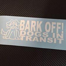 WHITE BARK OFF DOG in transito Auto Adesivo Decalcomania Cucciolo Walker Pet Cane Guida K9