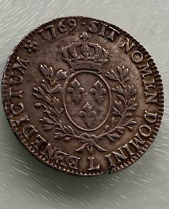1769 L Louis XV France Silver Ecu L (Bayonne) ecu