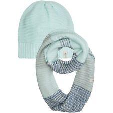 THE NORTH FACE WOMEN'S PURRL STITCH HAT & SCARF COMBO ORIGIN BLUE NWB $70 LIST