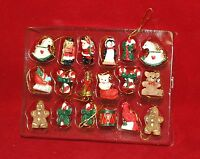 Set of 18 Miniature Winter Wonderland Hand Painted Christmas Ornament