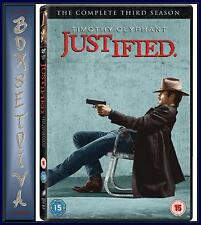 JUSTIFIED - COMPLETE SEASON 3 ***BRAND NEW  DVD***