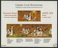 Australia 482a o/p MNH Captain James Cook, Anpex 1970