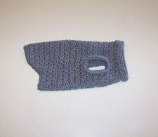 Hand Crochet Gray Dog Sweater for Small Pet