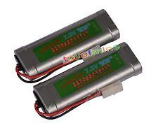 7.2V 6800mAh Ni-MH Rechargeable Battery RC Tamiya x2