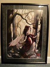 Nene Thomas Always Framed LE Print Signed Fairy Faery Crow Bird Forest NEW