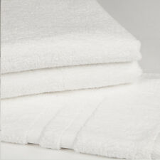 6 NEW WHITE POLLY/COTTON HOTEL BATH TOWELS 24X50