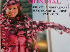 Mondial Frivola Hat, Scarf & Purse Knit Patterns