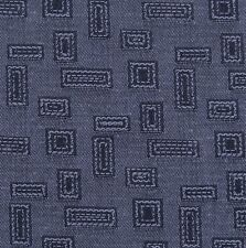 Federal Blue Geometric Rectangle Square Woven Crypton Upholstery Fabric 0733369