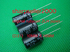 100pcs JAPAN Rubycon ZLH 470uF 35v 105c Radial Electrolytic Capacitor Low ESR