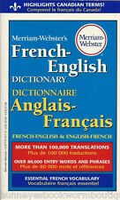 FRENCH ENGLISH DICTIONARY Anglais Francais NEW Websters PAPERBACK Translations
