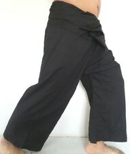 YOGA Thai Fisherman Pants Long Cotton Wrap For Men & Women Black Color Free Size