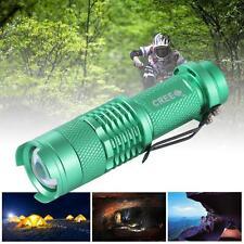 Green UltraFire 3500Lm LED Flashlight Torch Lamp Adjustable Focus Zoom Light #M