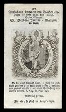 santino incisione 1600 S.TEODORA V.M. AD ALESSANDRIA D'EGITTO