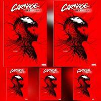 CARNAGE BLACK WHITE AND BLOOD #1 GLEASON WEBHEAD VAR ~ 5 COPIES ~ PRESALE 3/24