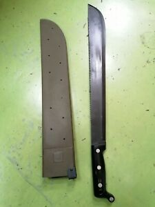 Vintage Unused US Army Machete Multipurpose Survival Knife Saw with its Scabbard